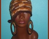 Classy Adobe Hippie Crochet Hat and Earrings