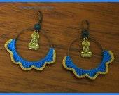 SALE - 5 Dollars Off - Sol Buddha Crochet Earrings