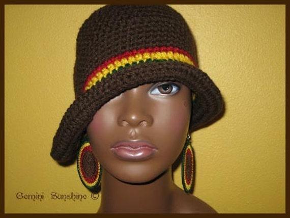 Cloche Sol Crochet Hat and Earrings