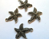 Antique Silver  Star Fish Charms