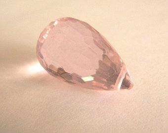 Large Pink  Briolette Bead