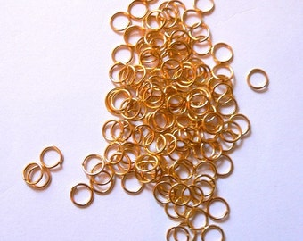 75 4mm  Gold Plated Jump Rings