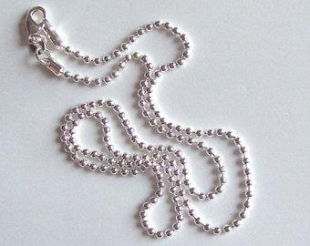 24 inch Silver Ball Chain