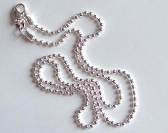 20 inch Silver Ball Chain