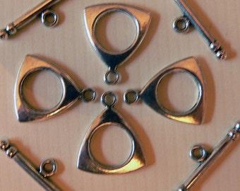 Silver Triangle Clasp