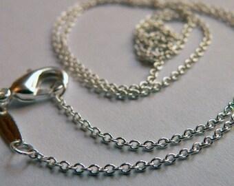 18 inch Rolo Silver Chain  BULK order 5 Chains