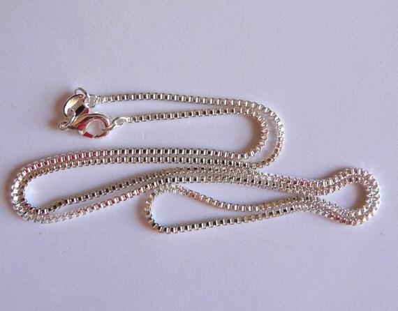20 inch Silver Box Chain
