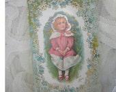Vintage Victorian Valentine Card - late 1800's
