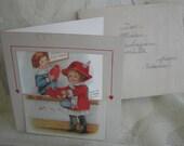 Vintage Valentine Card - Victorian Die Cut Card - Rare and Unusual - 1900