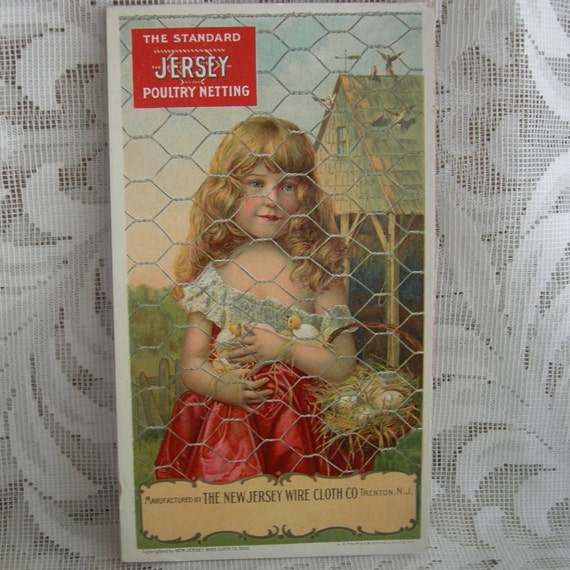 Vintage Advertising Blotter - Near Mint Condition - New Jersey Wire Cloth Co. - 1900