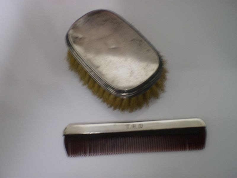 1921 Sterling Silver Baby Brush And Comb Set By Grannyscranny