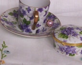Beautiful Lily Creek 3PC  Porcelain Set With 24K Gold Trim