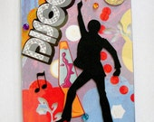 Fridge Magnet, DISCO FEVER GUY Theme, Handmade