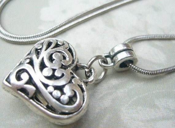 Carolines Vervain Filled Tibet Silver Heart Vampire Protection Pendant