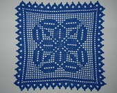 DOILY, ROYAL BLUE, 11 1\/2 IN. SQUARE