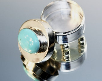 Small Round Box With Turquoise Stone