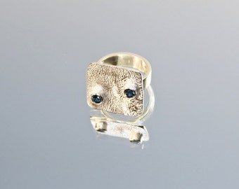 Funky Fabulous Square Silver Ring