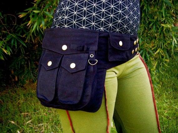 Heroe Saddle Bags - Utility Bag - Vegan - Cotton Canvas - Black - Large