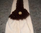 Crochet Topper Sunflower Hand Towel
