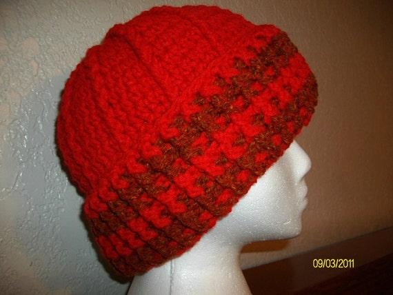 Red Head Hugger Crochet Beanie