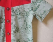 RESERVED Boy's Western Button-Up Shirt from Vintage Pattern and Fabric