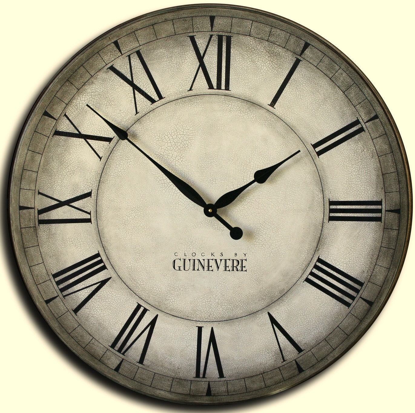 Large Wall Clock 42in Handpainted Antique Style Big Clocks