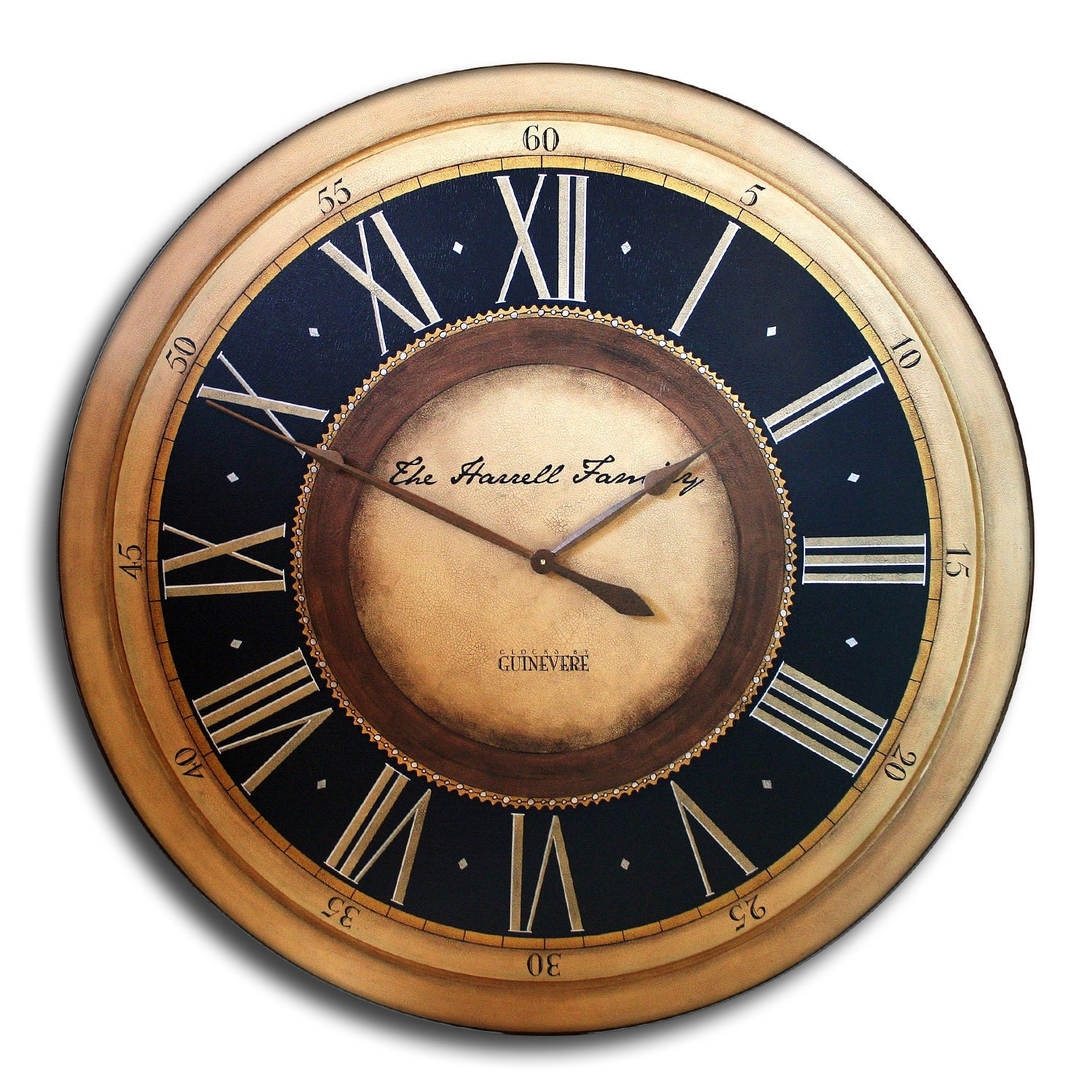 Large Wall Clock 24in Antique Style Pennylane W By