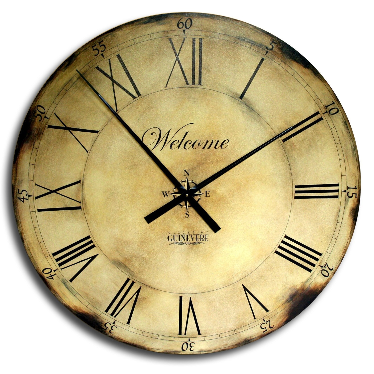 18in large antique style big wall clock art