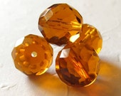 50% off with coupon code LASTCALL - Topaz faceted rounds 14mm Czech glass (11 beads)