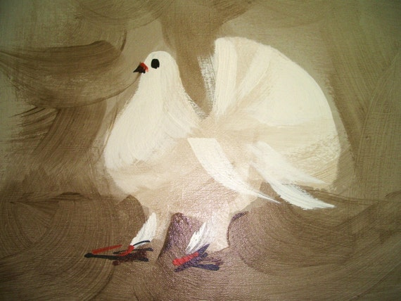 Set of McCaine Paintings- Birds Dressed in White