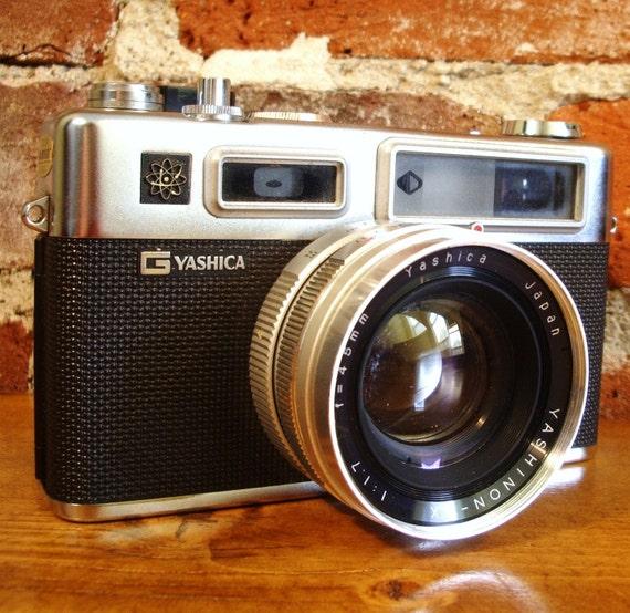 Vintage Yashica Electro 35 Camera with Case & Film Holder