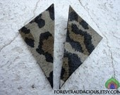 Points of YOU (Leopard Print Genuine Leather Handmade Studs) -FREE Gift w/ Purchase