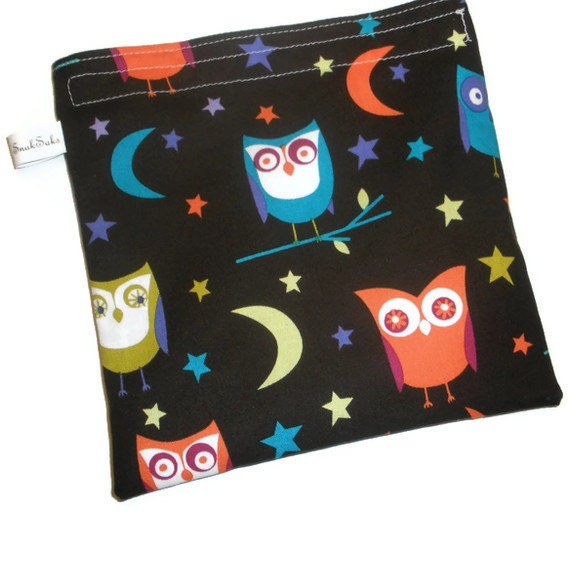 Reusable Sandwich Bag Night Owls
