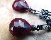 The Last Dance - Ruby and sterling silver earrings