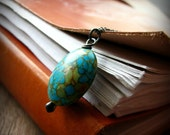 Turquoise and sterling silver necklace earthy rustic - Quench