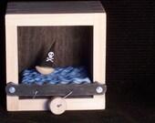 hand crank pirate ship automata