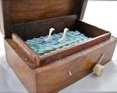 wood swans automaton in wooden ganesha box