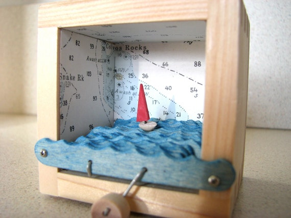 nautical chart sailboat automaton