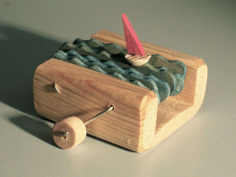 building block red sailboat automata