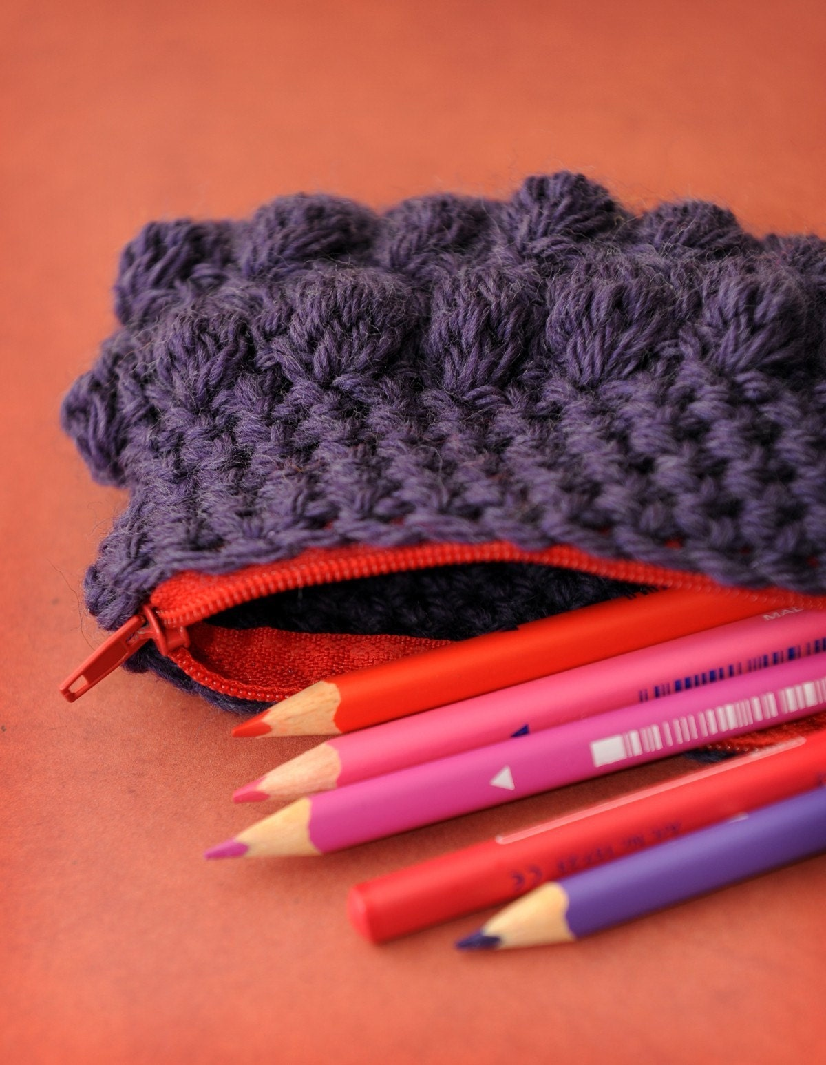 Pretty Pencil Case Pattern crochet by aforstbauer on Etsy