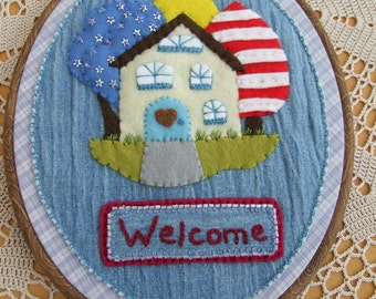 Hand Embroidered Welcome Wall Hanging