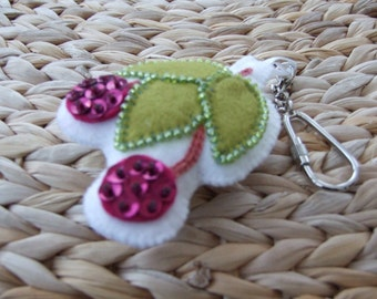 Cherry Ripe Key Ring / Handbag Fob