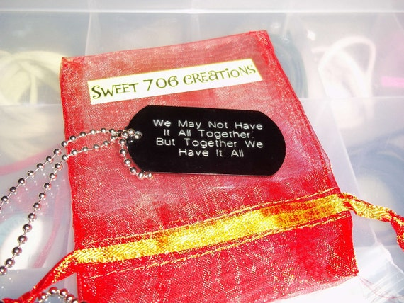 We may not have it all together.. necklace BLACK
