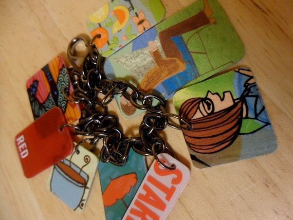 upcycled Starbucks charm bracelet