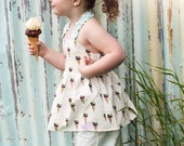 Summer 2012 Ice Cream Outfit Custom Size 12m, 2t, 3t, 4t, 5, 6