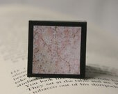 Japanese Floral Print 2 - Square Magnetic Bookmark