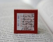 Aeropostale Letters - Red Square Magnetic Bookmark