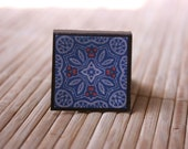 Bohemian Kaleidoscope - Square Magnetic Bookmark