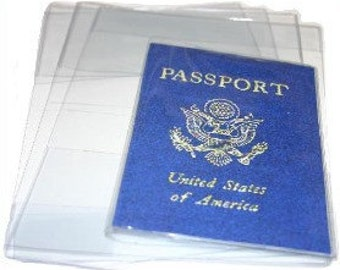 2 Clear Vinyl PassPort Covers fits US Passports CLEAR VINLY