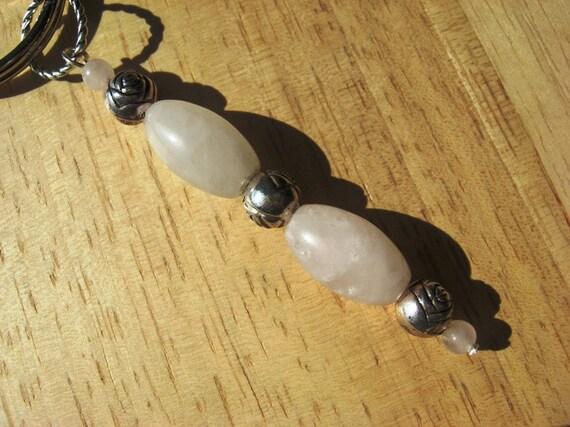 Key Ring Rose Quartz Gemstones